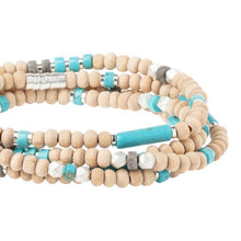 Scout Wood, Stone and Metal Turquoise Wrap Bracelet/Necklace - http://www.shopabigails.com