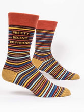 Blue Q Men's PRETTY DECENT BOYFRIEND CREW SOCKS - http://www.shopabigails.com
