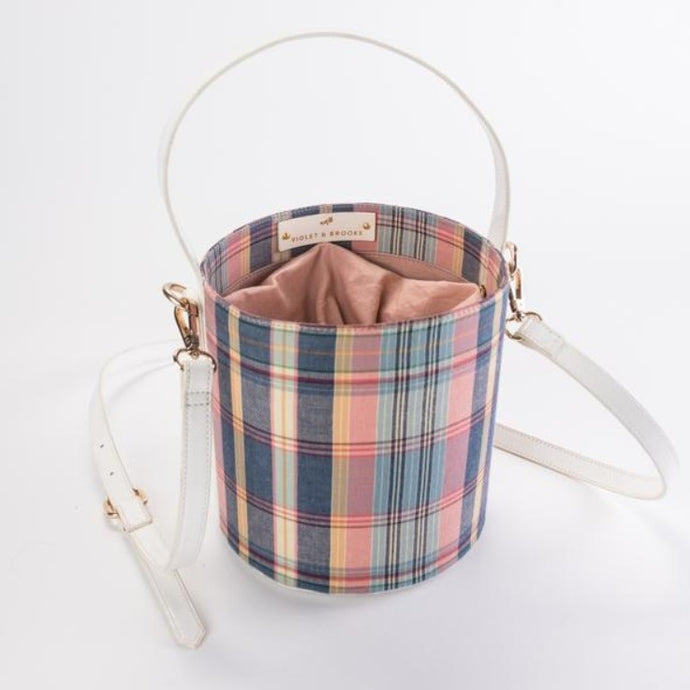 Dear Lizzy Madras Plaid Bucket Purse - http://www.shopabigails.com
