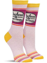 Blue Q ladies DUCHESS OF SASSYTOWN CREW Socks - http://www.shopabigails.com