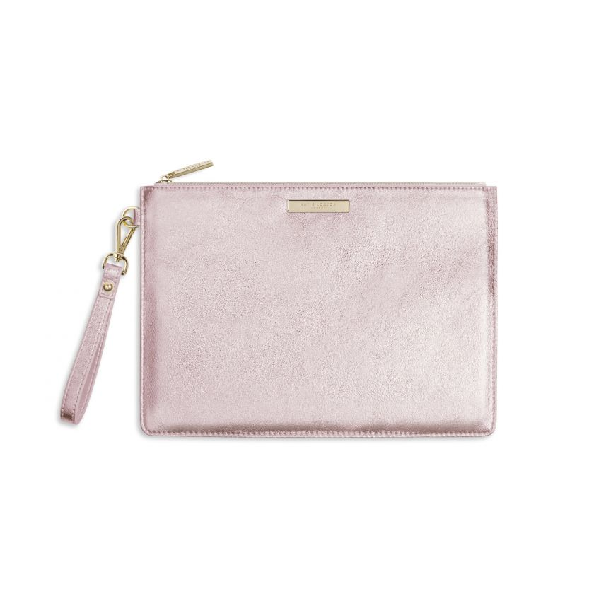 LUXE CLUTCH BAG | METALLIC ROSE GOLD | Katie Loxton | Handbag | Purse - http://www.shopabigails.com