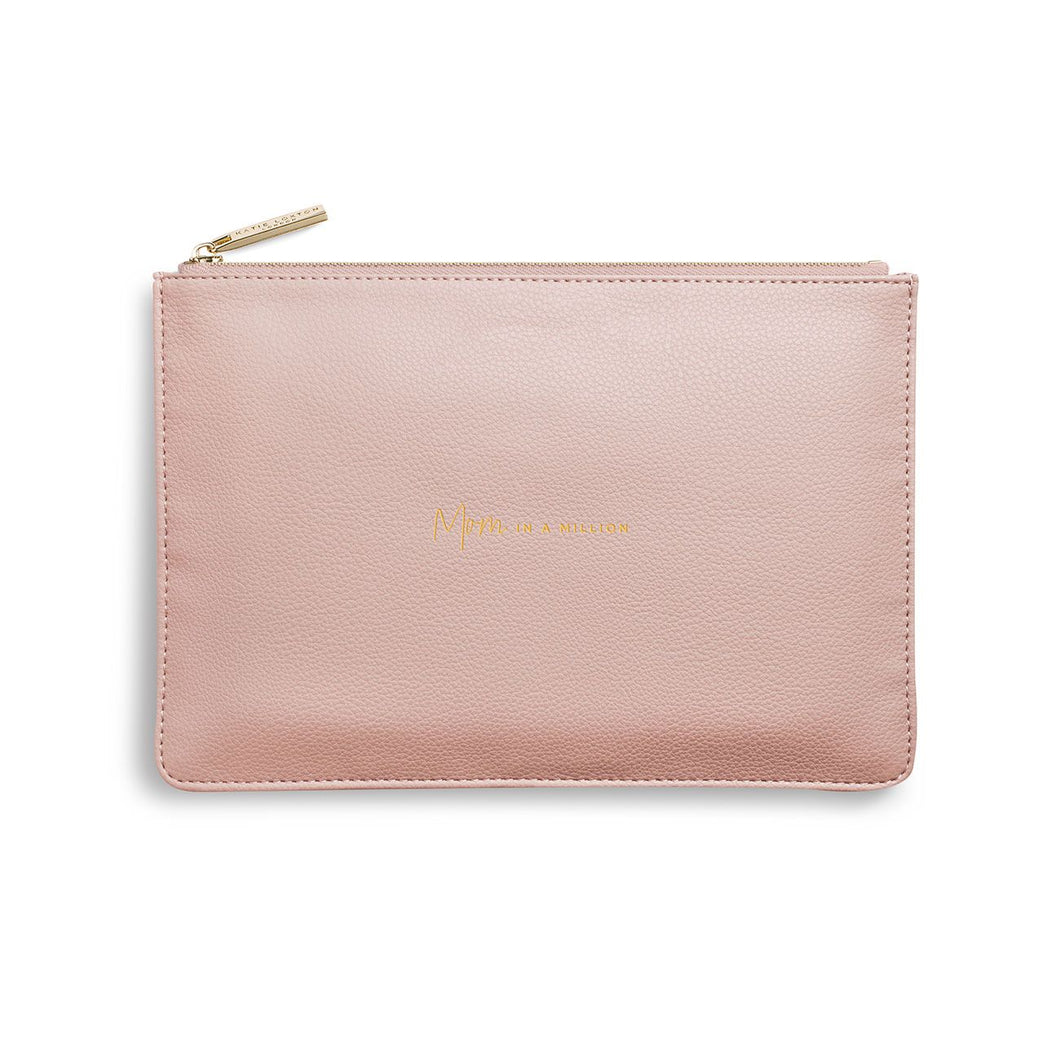 PERFECT POUCH | MOM IN A MILLION | PALE PINK | Katie Loxton - http://www.shopabigails.com