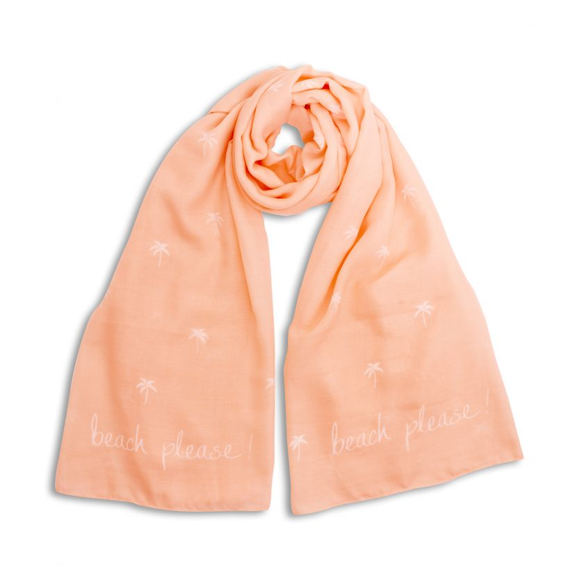 SENTIMENT SCARF | BEACH PLEASE | PEACH | KATIE LOXTON - http://www.shopabigails.com