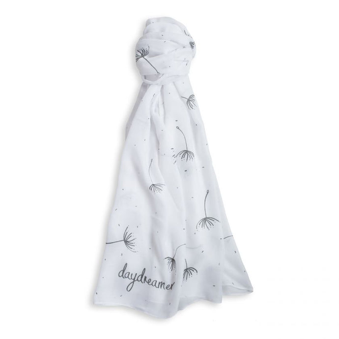 SENTIMENT SCARF | DAYDREAMER | WHITE | KATIE LOXTON - http://www.shopabigails.com