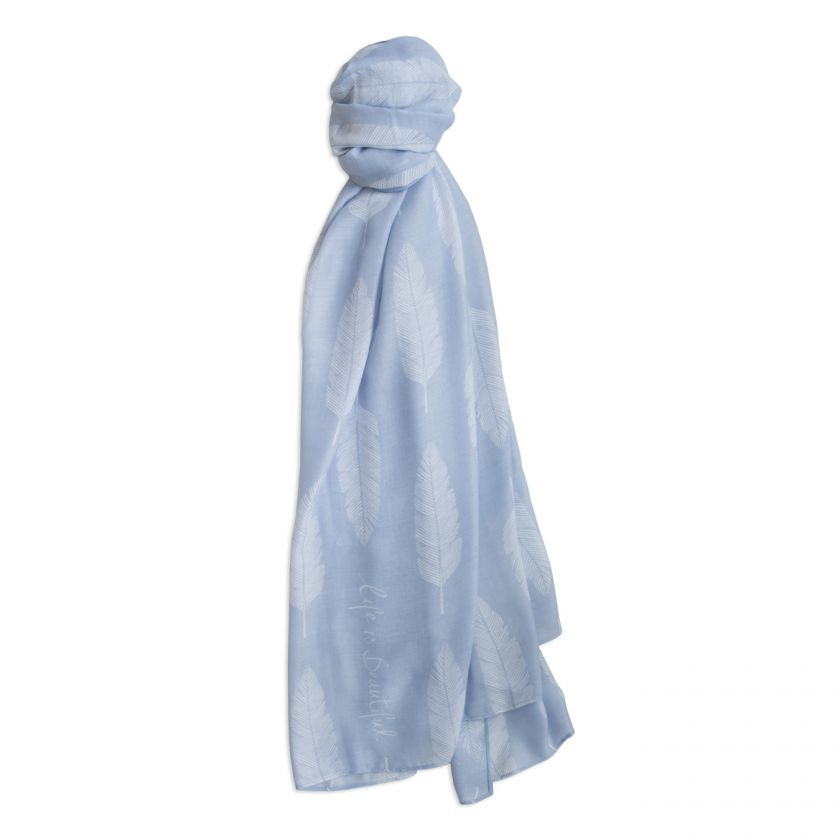 SENTIMENT SCARF | LIFE'S BEAUTIFUL | POWDER BLUE | KATIE LOXTON - http://www.shopabigails.com
