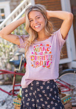 Boho Graphic Cotton T-Shirt Make A Difference Today - http://www.shopabigails.com