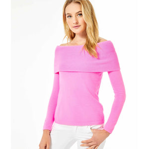 Lilly Pulitzer Christin Off-The-Shoulder Sweater Prosecco Pink