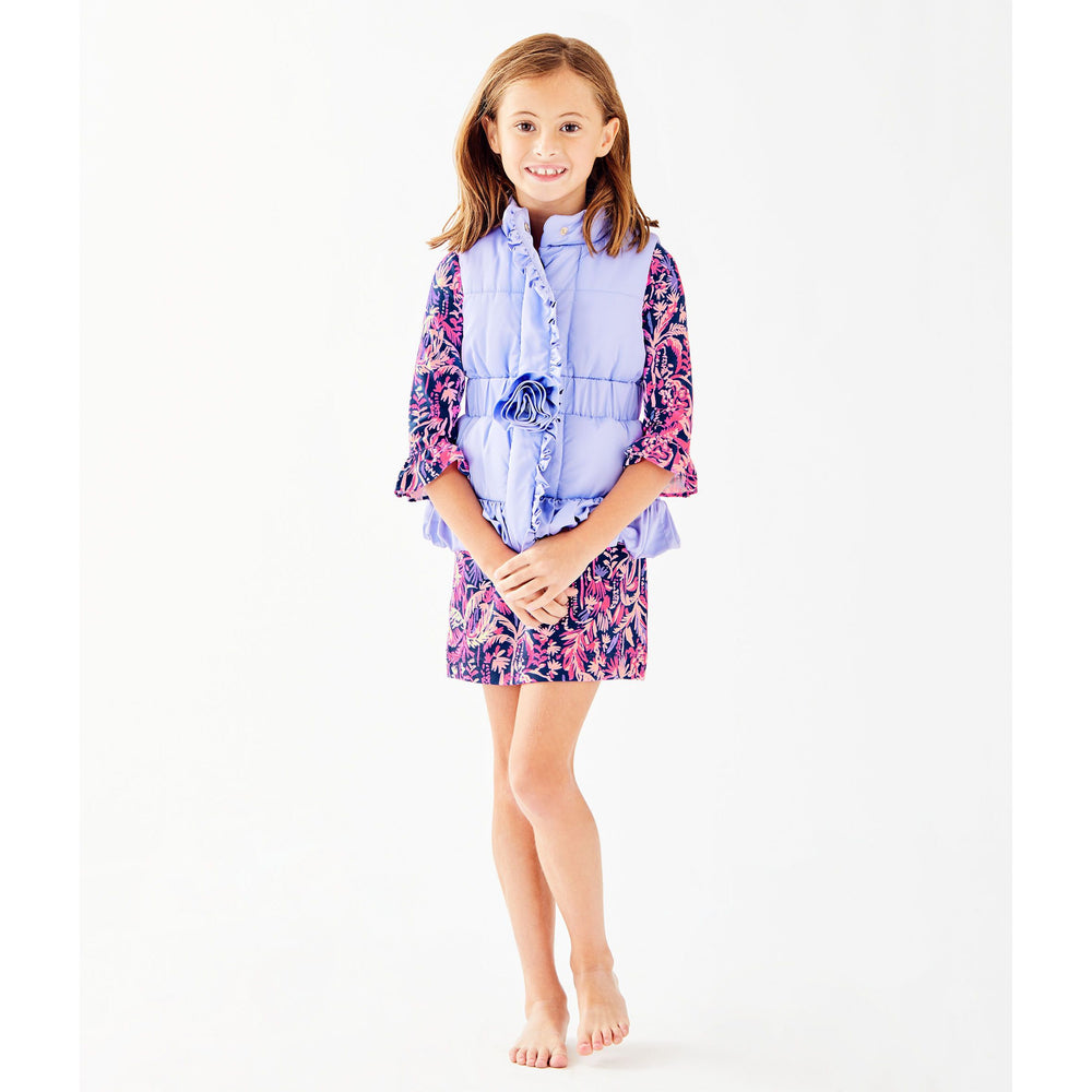 Load image into Gallery viewer, Lilly Pulitzer Girls Caylee Vest Sea Urchin Purple