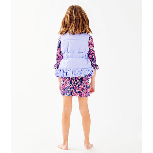 Lilly Pulitzer Girls Caylee Vest Sea Urchin Purple