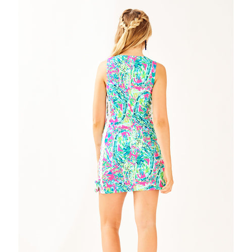 Lilly Pulitzer Mila Shift Dress Multi Snap Back
