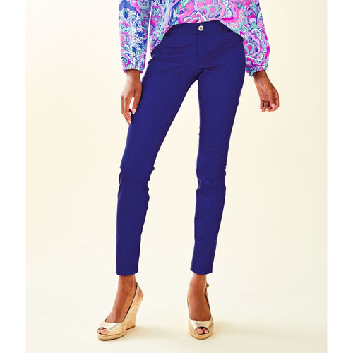 "Lilly Pulitzer 29"" Kelly Skinny Ankle Pant Royal Purple"