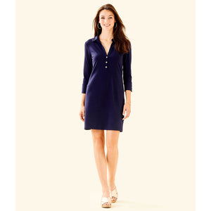 Load image into Gallery viewer, Lilly Pulitzer UPF 50+ Ansley Polo Dress True Navy