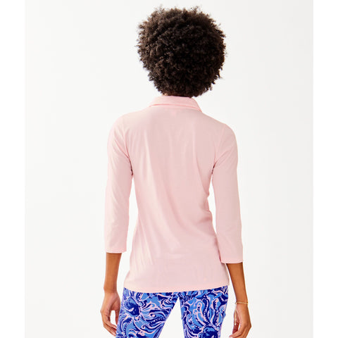 Lilly Pulitzer Ansley Polo Melon Fig Tint