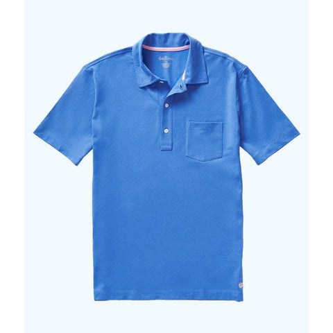 Lilly Pulitzer Mens Polo Shirt Coastal Blue