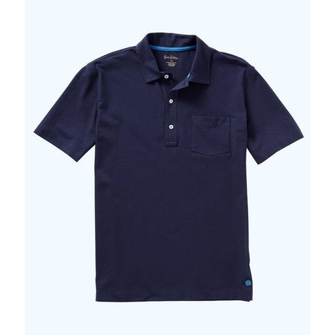 Lilly Pulitzer Mens Polo Shirt True Navy