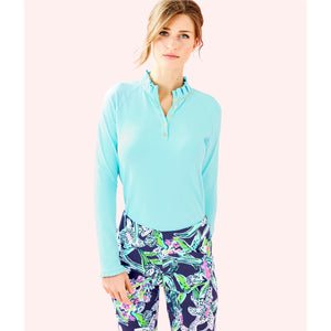 Lilly Pulitzer UPF 50+ Hutton Golf Polo Bali Blue