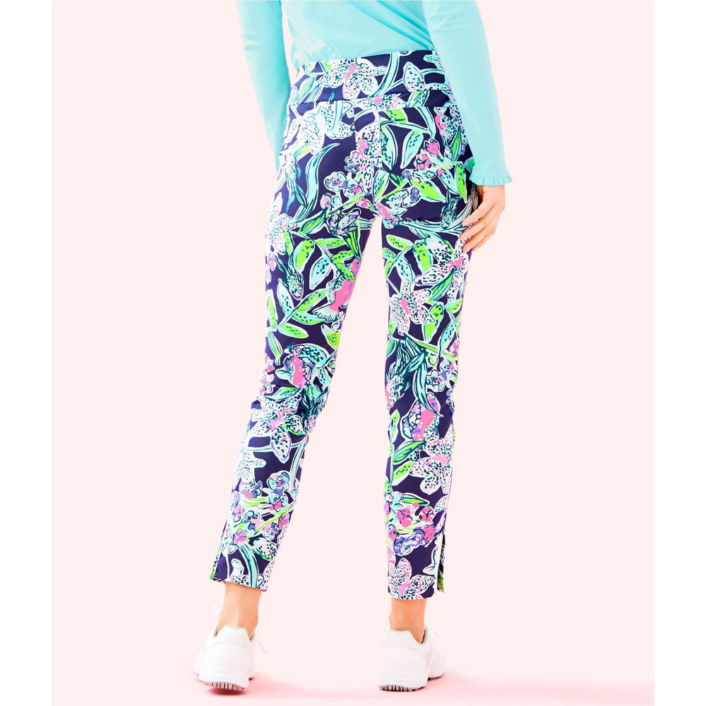 "Lilly Pulitzer Luxletic 28"" Fairway Performance Twill Corso Golf Pant Bright Navy Sway This Way"