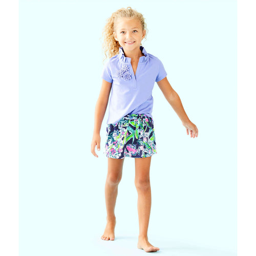 Lilly Pulitzer Girls Thierry Polo Blue Hyacinth