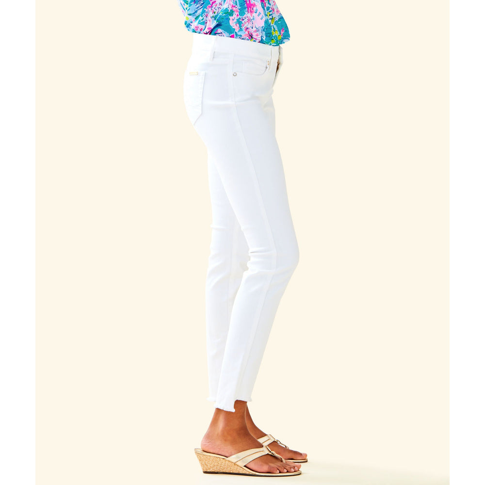 "Lilly Pulitzer 28"" South Ocean Skinny Crop Jean Resort White"