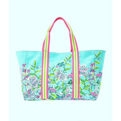Lilly Pulitzer Lillys Lagoon Tote Bag Bali Blue Sway This Way