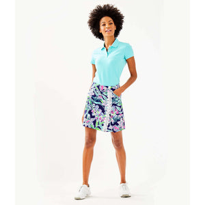 Load image into Gallery viewer, Lilly Pulitzer Luxletic Meredith Short Sleeve Golf Polo Bali Blue