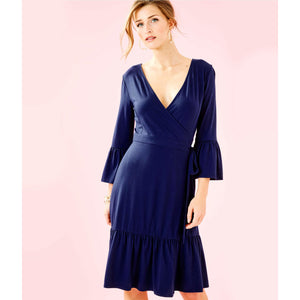Lilly Pulitzer Misha Wrap Dress True Navy
