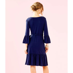 Load image into Gallery viewer, Lilly Pulitzer Misha Wrap Dress True Navy
