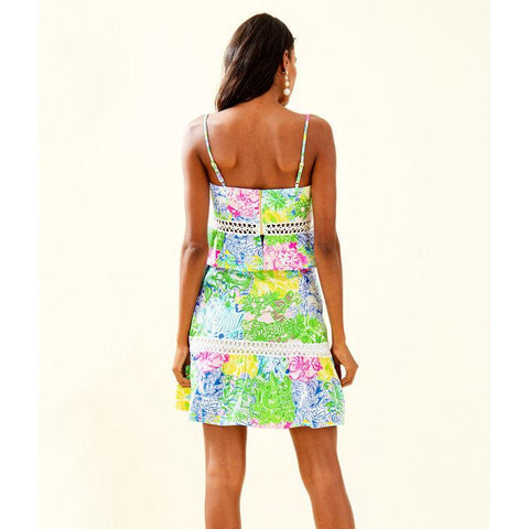 Lilly Pulitzer Jan Peplum Top And Skirt Set Cheek To Cheek