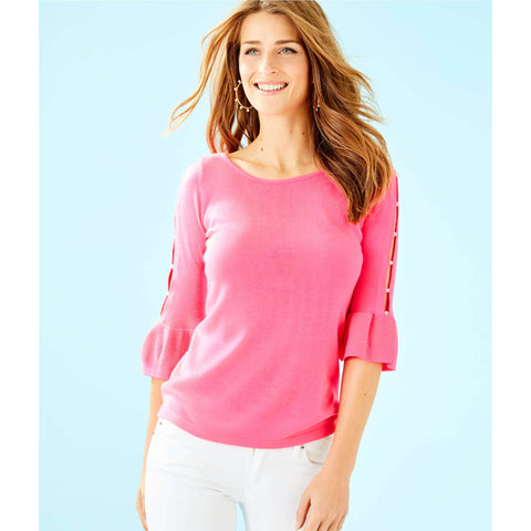 Lilly Pulitzer Rosemary Pearl Sweater Pink Tropics