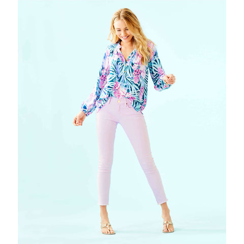 "Lilly Pulitzer 29"" South Ocean Skinny Jean Sweet Violet"