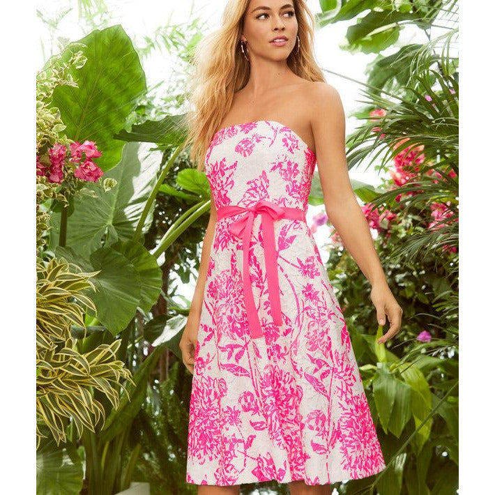 Lilly Pulitzer Sienna Dress Resort White Caliente