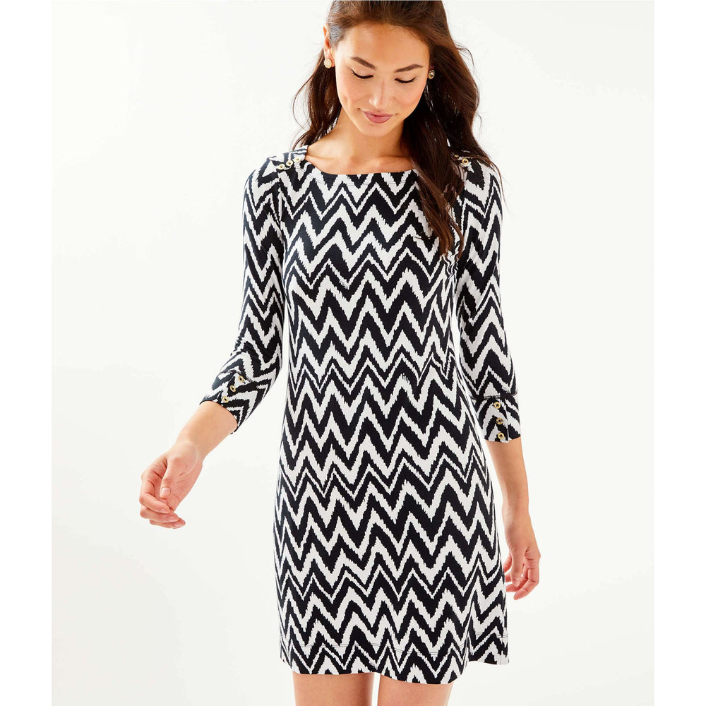 Lilly Pulitzer UPF 50+ Sophie Dress Onyx Get Your Chev On