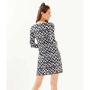 Load image into Gallery viewer, Lilly Pulitzer UPF 50+ Sophie Dress Onyx Get Your Chev On