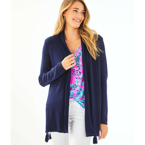 Lilly Pulitzer Ashwood Cardigan True Navy