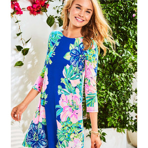 Lilly Pulitzer Ophelia Swing Dress Multi Island Escape Engineered Knit Dress