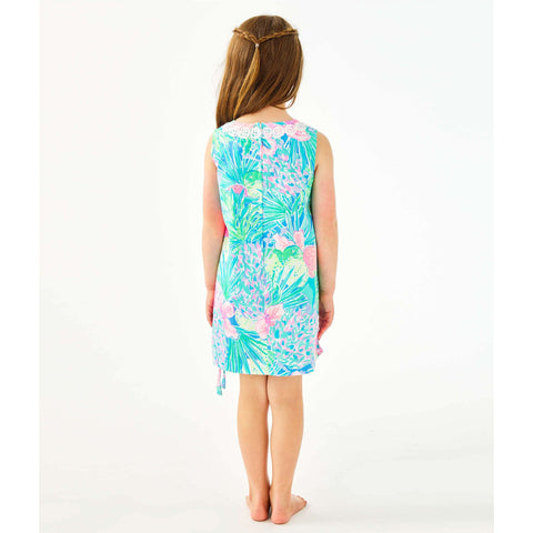 Lilly Pulitzer Girls Little Lilly Classic Shift Dress Multi Swizzle In