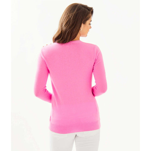 Lilly Pulitzer Delvin Cashmere Sweater Prosecco Pink