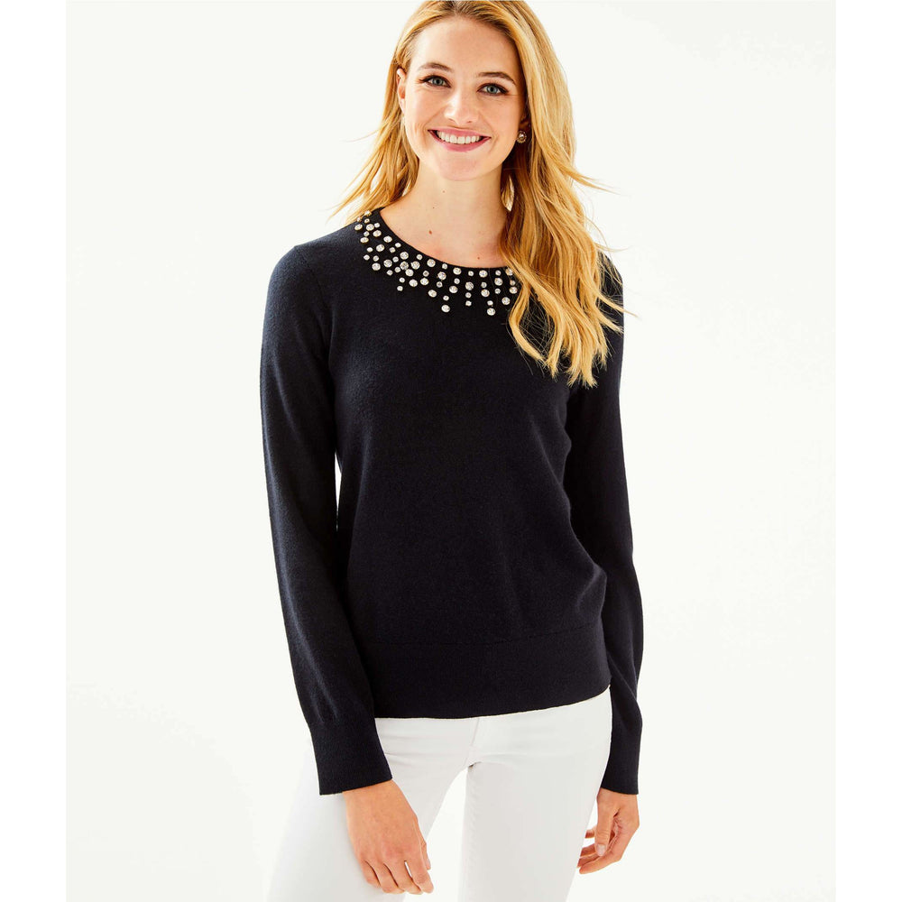 Load image into Gallery viewer, Lilly Pulitzer Odetta Sweater Black