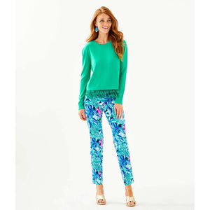 Load image into Gallery viewer, Lilly Pulitzer Marguerite Fringe Sweater Emerald Isle