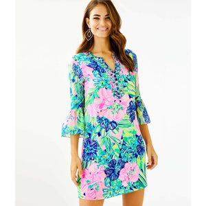 Lilly Pulitzer Elenora Silk Dress Multi Island Escape