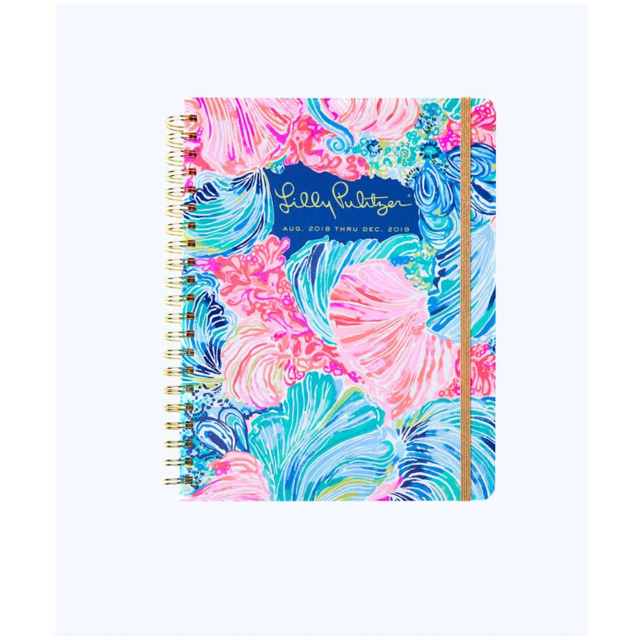 Load image into Gallery viewer, Lilly Pulitzer 2018-2019 17 Month Jumbo Agenda Multi Beach Please