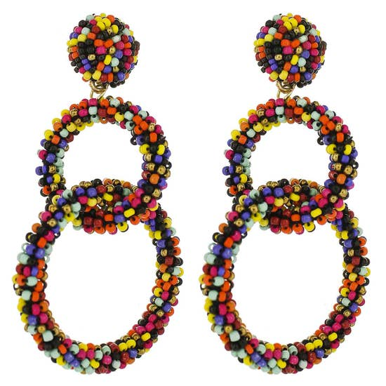 Load image into Gallery viewer, Rainbow Link Earrings