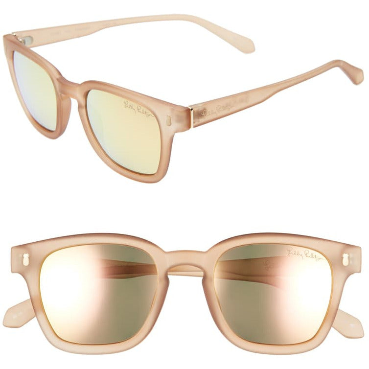 Lilly Pulitzer Josie Matte Crystal Gold Sunglasses