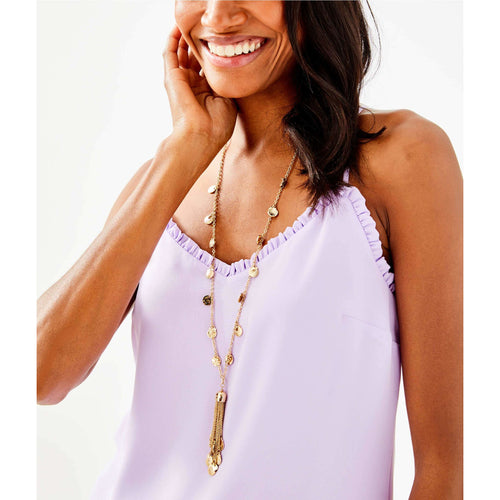 Lilly Pulitzer Maraca Necklace Gold Metallic