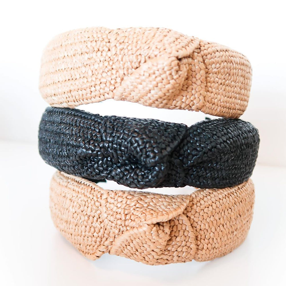 Load image into Gallery viewer, St. Armands Raffia Headband Natural