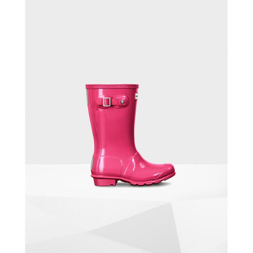 Hunter Original Kids Gloss Bright Pink