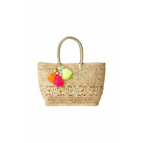Lilly Pulitzer Riviera Straw Tote Bag Natural