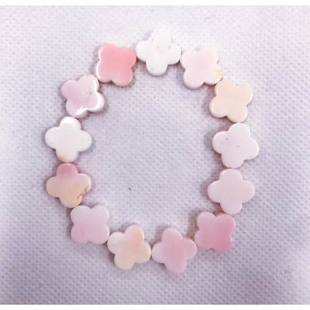 KEP Pink Mother of Pearl Stretch Bracelet