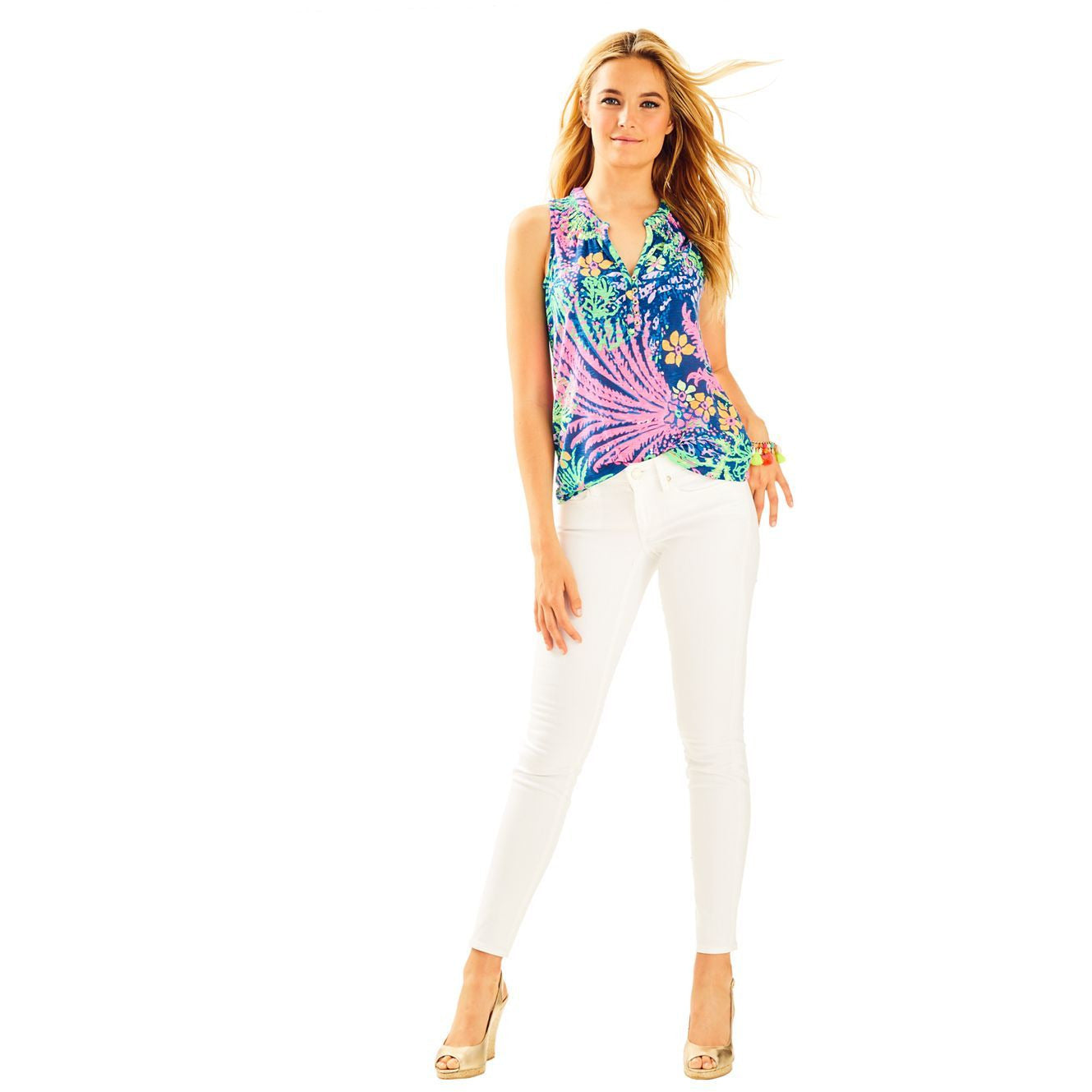 "Lilly Pulitzer 31"" South Ocean Skinny Jean Resort White"