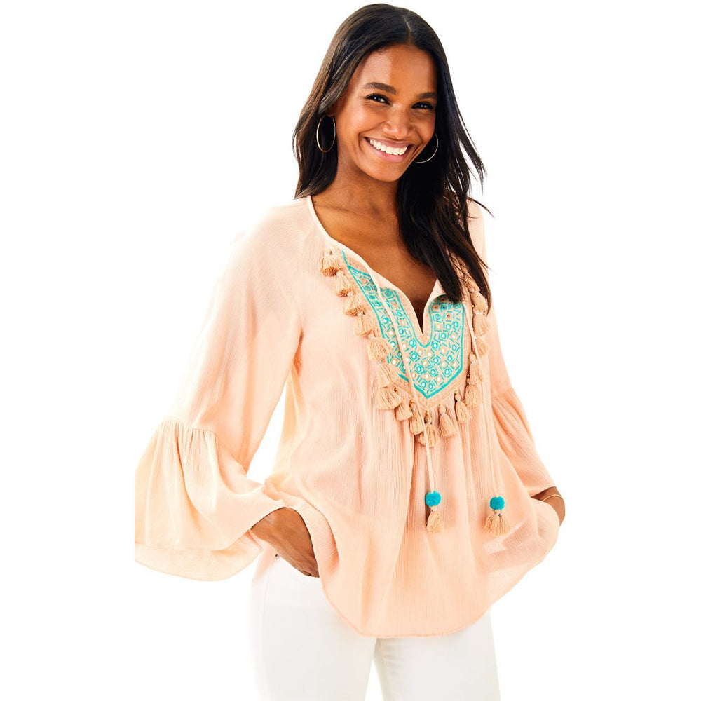 Load image into Gallery viewer, Lilly Pulitzer Shandy Top Sandstone